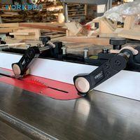 سبائك الألومنيوم السكك الحديدية مقبض الجدول الجدول دفع كتلة سهلة المغذية للمسلج bandsaw حاكم مخرطة النجارة diy أداة المهنية مجموعات اليد