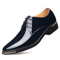 Style Men's Shoes Leather Leisure Busins Solid Color Drs Low Heel Fashion