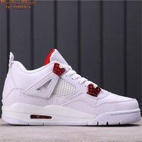 Chaussures de basket-ball de baskettes métalliques pour femmes 4 IV Great Quality 4s Golden Pack Sneakers Sneakers Taille US7-12 Navire avec Shoebox