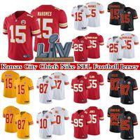 15 Patrick Mahomes 25 Clyde Edwards-Helaire 87 Travis Kelce 10 Tyreek Hill 2021 Super Bowl LV LV Couverte de NFL Kansas City Chiefs Nike Limited Football Jersey