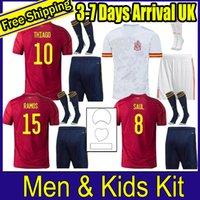 Erkekler ve Çocuklar Tam Kiti 2020 Euro İspanya Morata Ev Futbol Forması 20 21 Koke Asensio Ramos Silva ISCO Avrupa Kupası Futbol Gömlek