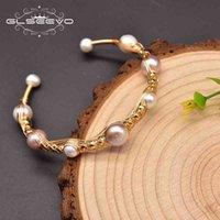 Glseevo Natural Baroque Pearl Charm Wrap Bracelets Bangles For Women Engagement Handmade Classic Luxury Fine Jewellery GB0935