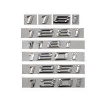 الكروم لامعة الفضة abs رقم خطابات الكلمات سيارة جذع شارة شعار الشعارات لسيارات بي ام دبليو 1 سلسلة 116i 128i 128i 125i 125i 135i 130i