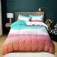 Bedding Sets Cloud Rainbow Landscape 2 3 Piece Twin Full Queen King Size Bed Cover 3d Printing Sky Star Linen For Girls