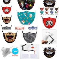 Italie Espagne Masque DHL Skull Imprimer Gardez le drapeau Combattant les masques de visage Fabric Tissu Adulte Protecteur PM2 6A90