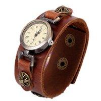 Orologi da polso korea gioielli all'ingrosso braccialetto in pelle handmade orologio vintage donne di lusso