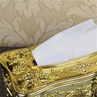 Золотая акриловая ткань-коробка отель ресторан салфетки держатель домохозяйства коробка бытовой ткани 385 R2
