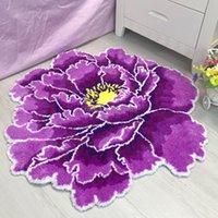 Ковры пастырский цветок мягкий круглый ковер для дома гостиная спальня стекающая розовая коврик прикроватный гарнитура