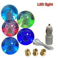 Breathable LED Light Ball Shape Acrylic Gear Shift Knob Floating Emblem Toyota