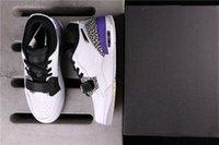 Genuine Jumpman 312 Mens Donne da donna scarpe da basket in stile coppia Sneakers viola e bianco Full Size 36-45