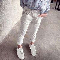 Jeans Girls White Blue Black Autumn Spring Children Pants Denim Toddler Kids Trousers Clothes For Baby Girl