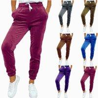 Women's Pants & Capris 2021 Woman Joggers Trousers Casual Sweatpants Jogger 6 Color Fitness Workout Harem