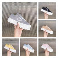 Nuevo color puro de las mujeres aumentó zapatos casuales diseñador de moda de lujo seis colores