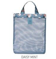 المرأة شبكة تسوق حقيبة سفر الفاخرة حقيبة غسل حقيبة كبيرة تخزين حقيبة التخزين حقائب اليد متعددة الوظائف مطوية المنظمون GGA4401