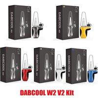 Authentic Dabcool W2 V2 ENAIL KITS E-Cigarro 1500mAh Bateria Vaporizador Modhookah Cera Concentrado Shatter Budder Dab Rig Vape Kit 4 Configurações de Calor 100% Genuine