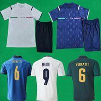 21 22 Italien Fussball Jerseys Shorts Startseite 1321 2022 Verratti Insignente Jorginho Football Sets Italia Torhüter Männer + Kinder Shirts Kits MAILLOT FOUT
