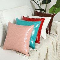 베개 케이스 PU 던지기 쿠션 커버 45 * 45cm pillowslip 클래식 홈 소모품 베개 캐주얼 베개 커버