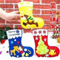 Christmas Stockings Decoration Gifts Bags Children's Kindergarten DIY Snowman Santa Candy Bag Xmas Tree Toy Gift Bag Supplies RRA9339