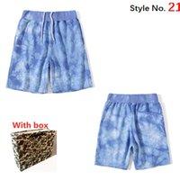 2021 Hommes Shorts Pantalons de sport Mesdames Summer Camouflage Shorts Pantalons Fashion Letter Impression Men's Shorts Street avec boîte