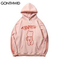 GONTHWID Graffiti Trapped Bear Tie Dye Hoodies Streetwear Hip Hop Harajuku Casual Pullover Hooded Sweatshirts Men Women Tops 210715