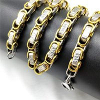 Necklace Silver Mens Stainless Steel Byzantium Long Large Chains Male Accessories Hip Hop Jewelry Chain On The Neck