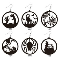 Halloween Big Round Circle Hollow Spider Web Witch Earrings Drop Dangle Festival Party Charms Gift for Women Girls