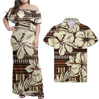 الزوجان مجموعة ملابس البني الأفريقية الأزهار المطبوعة الأزهار عارضة drs مخصص مثير drs النساء bodycon ladi drs
