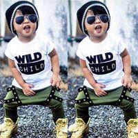 Pudcoco boy set 0-3y 2pcs neonato bambino bambino bambini baby boys vestiti abiti t-shirt top + pantaloni lunghi set 210326