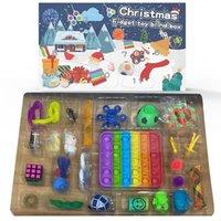 새로운! Fidget 장난감 크리스마스 블라인드 박스 24 일 출현 캘린더 크리스마스 음악 선물 상자 크리스마스 카운트 다운 2021 어린이 선물