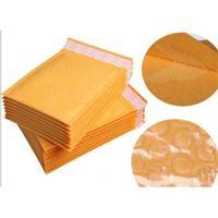 ورق الكرافت الورق الأصفر يلتف أكياس الهواء التعبئة فقاعة توسيد المغلفات مبطن التفاف 160 ملليمتر * 140 ملليمتر 6.29 * 5.5inch قطرة P2QQ