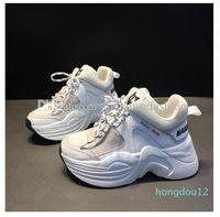 Orijinal Kutu En Kaliteli Çıplak Wolfe Kadınlar 70mm Parça Örgü Deri Sneakers Hakiki Deri Tasarımcı Yeni Yayın Moda Lüks Parça Ayakkabıları