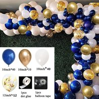 123pcs Metal Gold Balloon Arch Kit White Silver Latex Garland Balloons Baby Shower Supplies Backdrop Wedding Party Decortion Decoration