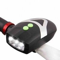 2 en 1 Luz de bicicleta 3 LED Frontal Light + Bell Horn Alarma MTB MTB Bike Faro Camping Ciclismo Accesorios Luces Y1YH #