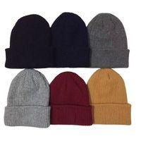 Bere Kafatası Kapaklar Avrupa ve Amerikan İtalya Tarzı Moda Örme Şapka Çift Kış Açık Spor Sıcak Örgü Kap Gorros Spor Açık