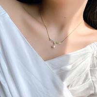 قلادة ميرميد الذيل نيلاس الأزياء حورية البحر giesen سلسلة الماس الترقوة سلسلة ني مجوهرات