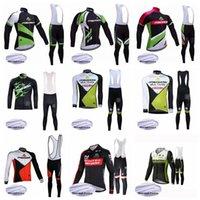 Merida Team Fleece Manica Lunga Jersey (Bib) Maillot Shorts Set Pro Abbigliamento Mountain Mountain Traspirante Sport Bicicletta Bicicletta Morbida Skil-friendly può essere mescolata 42727