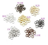 Open Jump Rings Gold Black Silver Bronze Color Connectors for Jewelry Making