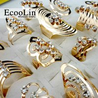 20Pcs Mix Style Zinc Alloy Gold Ring Adjustable Finger Ring for Women Fashion Jewelry Bijoux Lot Rings LR475 A0609