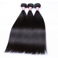 Straight Hair Weave Bundles 100% Human Hair Bundles 1pc Natural Color Hair Extensions Hairs Wefts Makeup