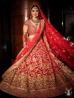 Stuning Vestido Saree Indian Wedding Dresses with Gold Appliques Beaded Arabic Dubai Bridal Gowns Robe De Soirée De Mariage