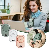 Electric Fans 3 Speed Adjustable Product USB Mini Handheld Cooling Hanging Neck Small Fan Lazy Sports Portable
