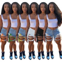 Leggings delle donne Desinger Summer Jeans Breve Jeans nappa vita alta Vita vintage Pantaloncini da donna Pantaloni snelli