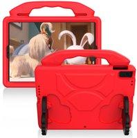 EVA 키즈 케이스 삼성 갤럭시 탭에 대 한 핸들 keakstand ancex90 T290 T295 T297 iPad 미니 아마존 Kindle Fire HD 7 8 Huawei MatePad MediaPad M3 8.4 정제 Shockproof 커버