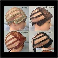 Çift Yapışkan Dantel Peruk Kapaklar Peruk ve Saç Dokuma Streç Ayarlanabilir Peruk Kap 4 Renkler Dome Cap Peruk 10 adet Tgryn 5HCJW