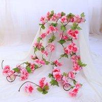 Симулятор вишневого цветения ротанга стул украшения искусственного цветка свадьба набор стены S7A7232 декоративные цветы венки