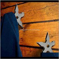 Rails Storage Housekeeping Organization & Gardencoat Hooks Ninja Star Shape Stainless Steel Creative Wall Door Hook Clothes Hats Hanger Holde