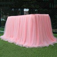 Mesa saia festa de casamento tutu tulle tableware pano de bebê festa de bebê decoração de casa contornando aniversário 100x75cm