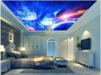 Wallpapers Custom Po 3d Ceiling Murals Wallpaper Cool Starry Universe Planet Home Decor Living Room For Walls 3 D