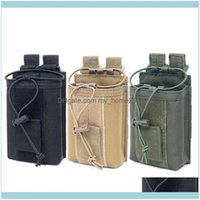 Outdoor & Outdoorsoutdoor Bags Tactical Walkie-Talkie Bag For Men Molle Waist Belt Camouflage Phone Pouch Wear Resistant Climbing Sports Dro