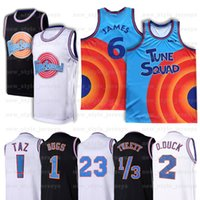NCAA Mens Movie Space Jam 2 Jersey Bugs MJ Bunny D.Duck! TAZ 1/3 Tweety Michael 22 Bill Murray 10 Lola Basketbol Formaları